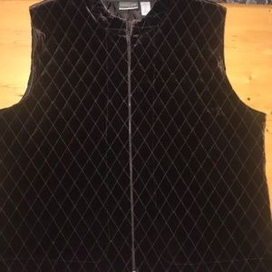 Chico's Black Vest XL Quilted with Zipper